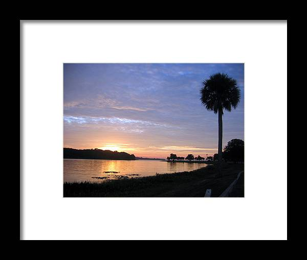 Art Framed Print featuring the photograph Daybreak At Venetian Gardens by Frederic Kohli