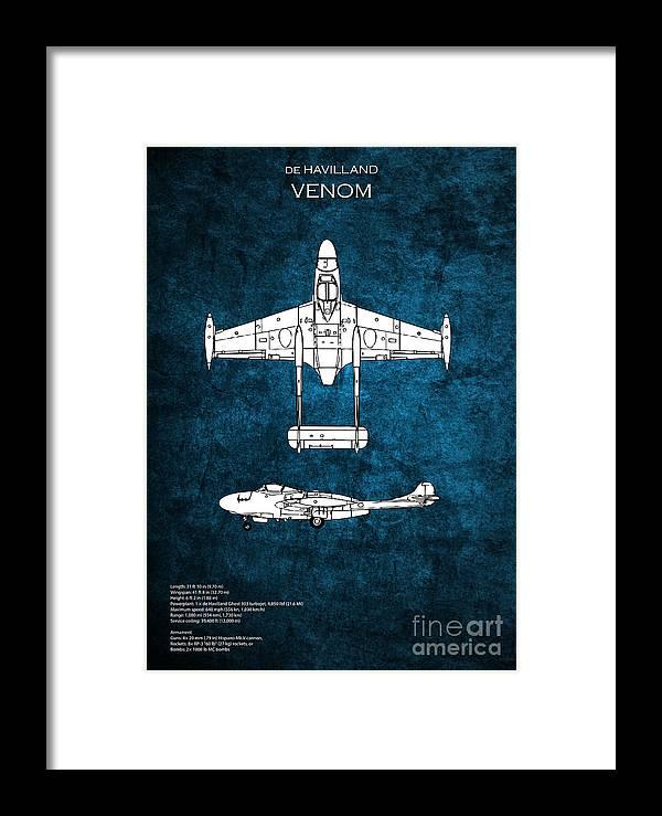 Venom Framed Print featuring the digital art de Havilland Venom by J Biggadike