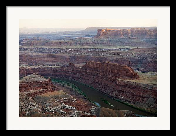 U.s.a. Framed Print featuring the photograph Dead Horse Point by Luigi Barbano BARBANO LLC