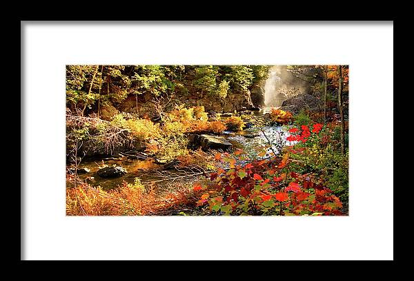Dead River Falls Framed Print featuring the photograph Dead River Falls Marquette Michigan by Michael Bessler