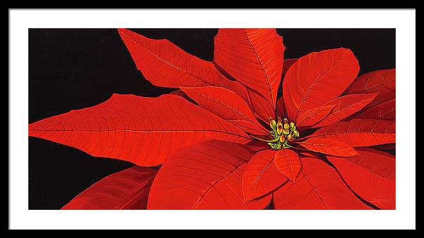 Botanical Framed Print featuring the painting Deep in the Night by Hunter Jay