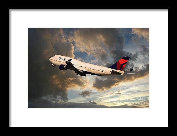 Delta Airlines Boeing 747 by Airpower Art