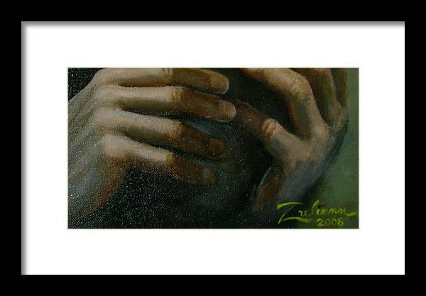 Framed Print featuring the painting Detail - Temptation Of Christ by R Zulienn
