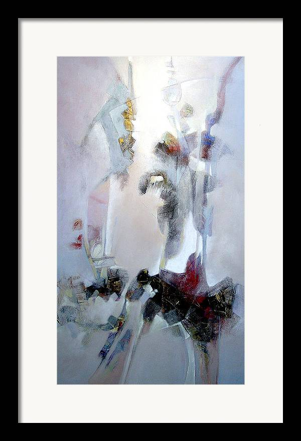Abstract Framed Print featuring the painting Dignity by Dale Witherow