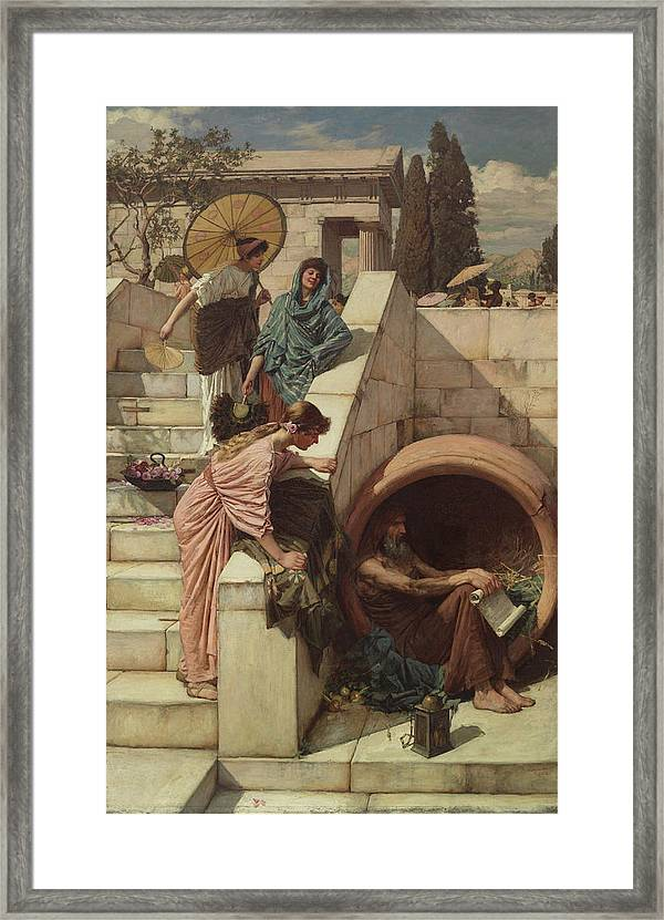 Diogenes Framed Print By John William Waterhouse