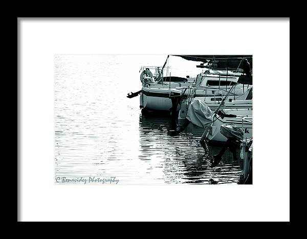 Boat Framed Print featuring the photograph Docked by Charles Benavidez