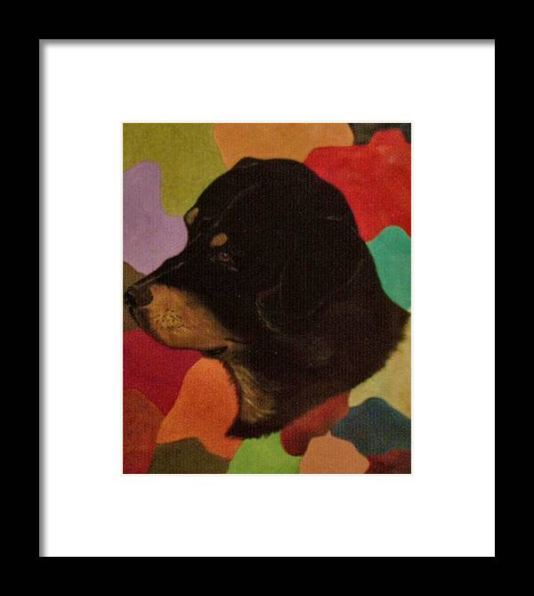 Dogs Framed Print featuring the painting Dog In Art by Guillermo Mason
