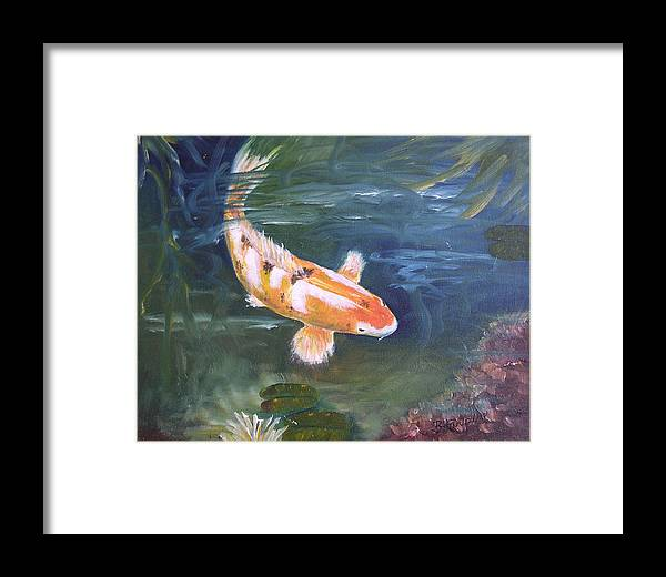 Koi Framed Print featuring the painting Doitsu Koi by Barbara Harper