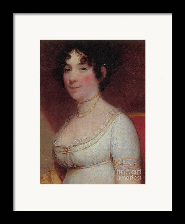Dolley Payne Todd Madison Framed Print featuring the photograph Dolley Madison by Photo Researchers