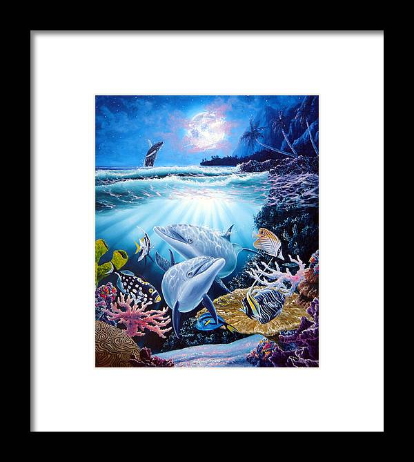 Dolphin Framed Print featuring the painting Dolphin Dream by Daniel Bergren