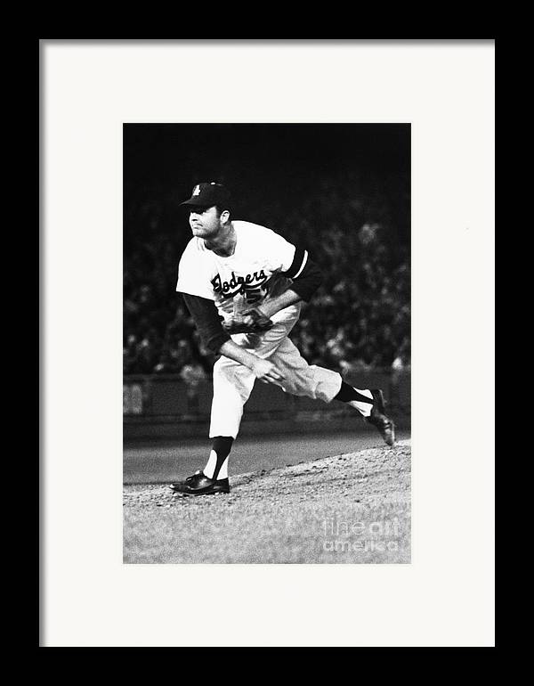 1968 Framed Print featuring the photograph Don Drysdale (1936-1993) by Granger