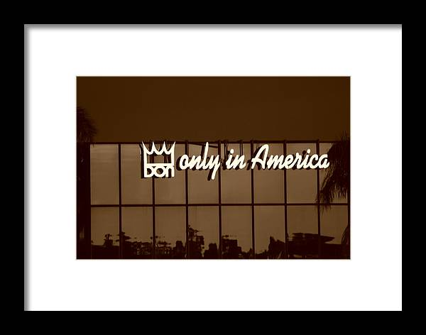 Sepia Framed Print featuring the photograph Don King Only In America by Rob Hans