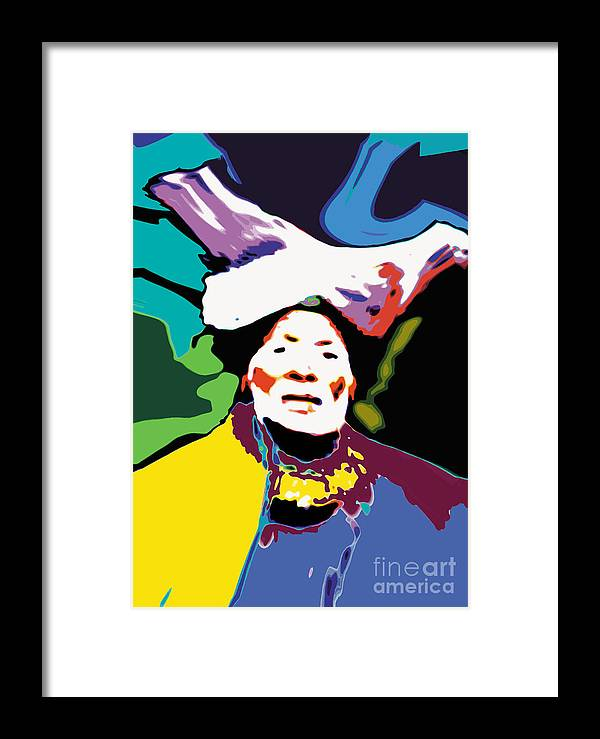 Different Colours Framed Print featuring the digital art Dr by Caddelle Faulkner