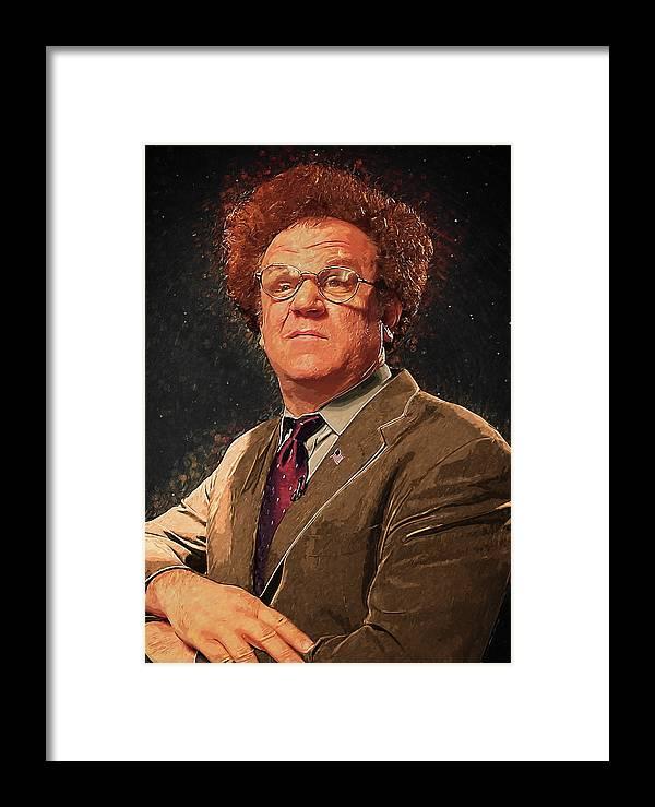 Dr Steve Brule Framed Print featuring the digital art Dr Steve Brule by Zapista Zapista