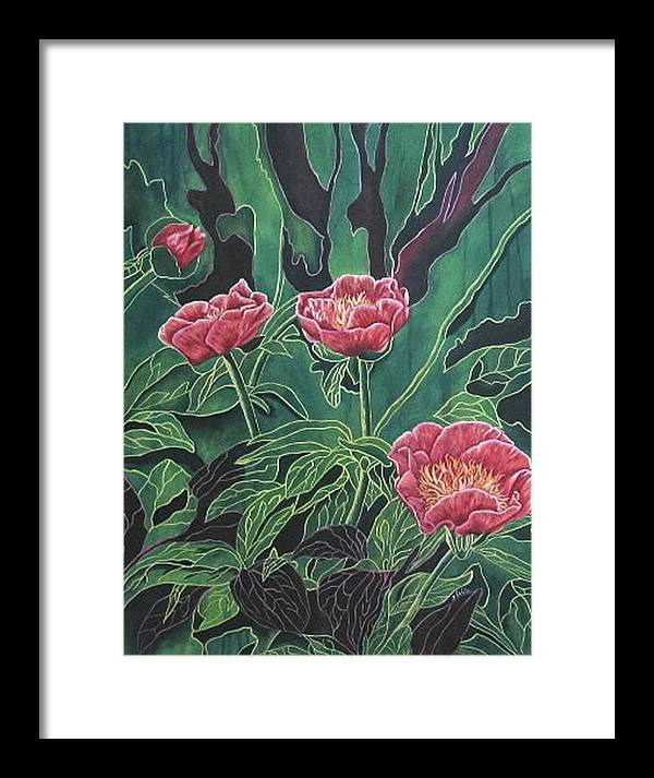 Flowers Framed Print featuring the painting Dream Life by Shahid Muqaddim