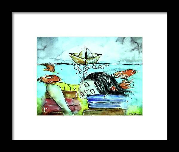 Dream Framed Print featuring the drawing Dream by Rishabh Ranjan