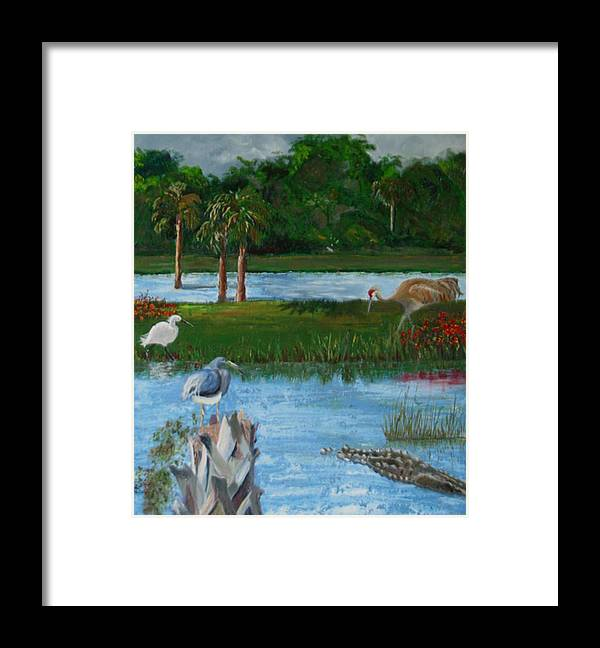 Marsh Framed Print featuring the painting Dream Scene by Libby Cagle