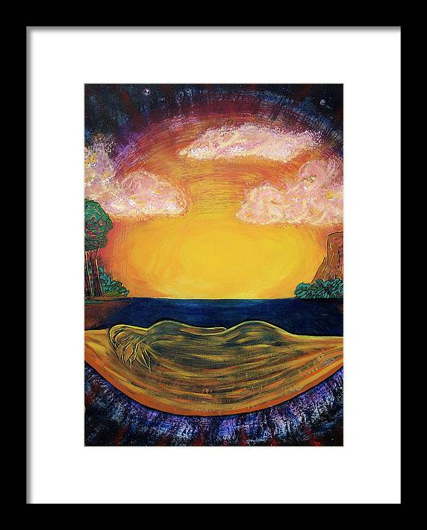 Goddess Framed Print featuring the painting Dreaming Goddess by Eric Singleton