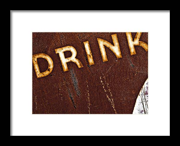 Color Framed Print featuring the photograph Drink by Curtis Staiger