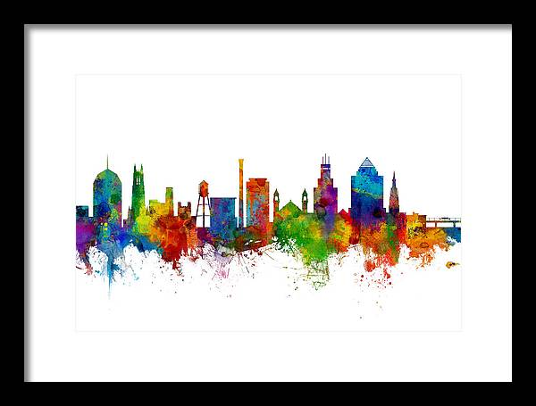 Durham North Carolina Skyline by Michael Tompsett
