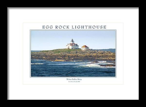 Landscape Framed Print featuring the photograph Egg Rock Island Lighthouse by Peter Muzyka