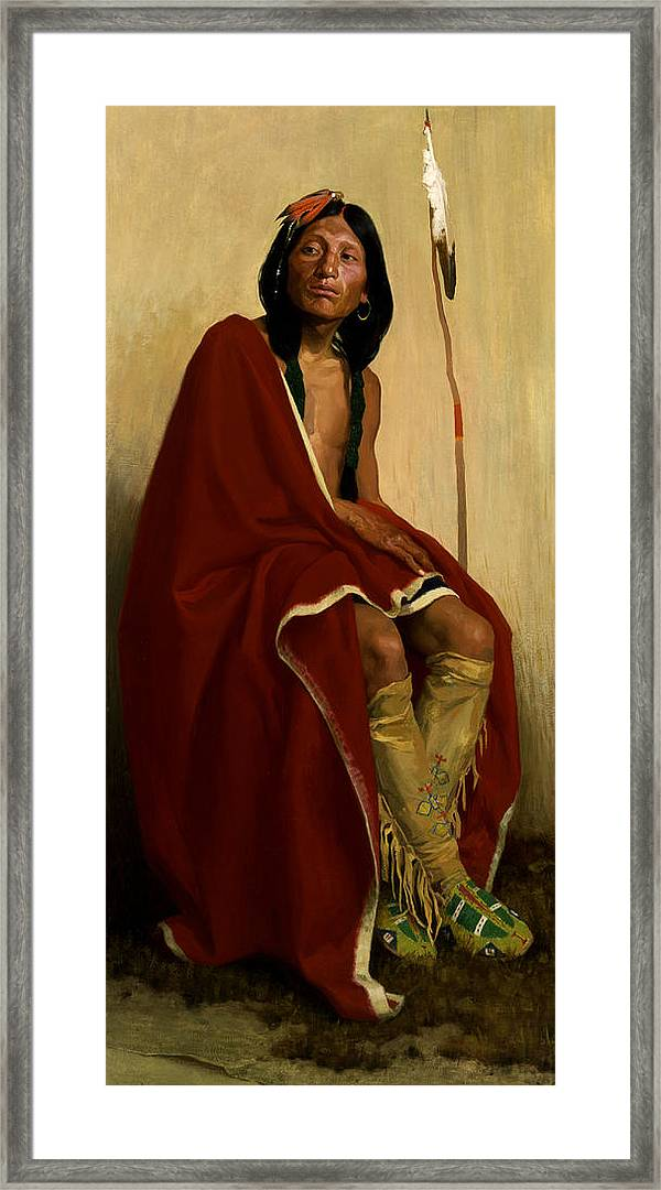 E Taos Tribe Images of Americana: Elk-Foot Fine Art Print Couse