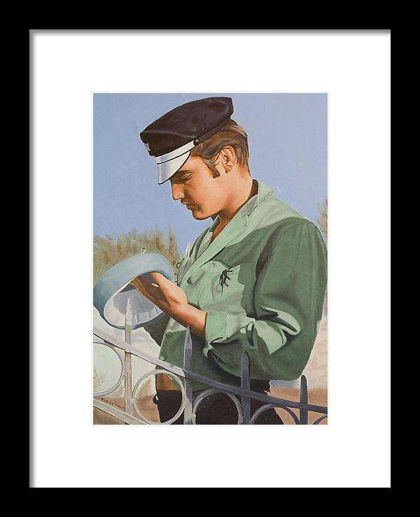 Singer Framed Print featuring the painting Elvis Presley by Rob De Vries