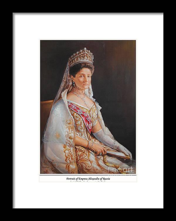 Empress Alexandra Feodorovna Of Russia Framed Print featuring the painting Empress Alexandra Feodorovna Of Russia by George Alexander