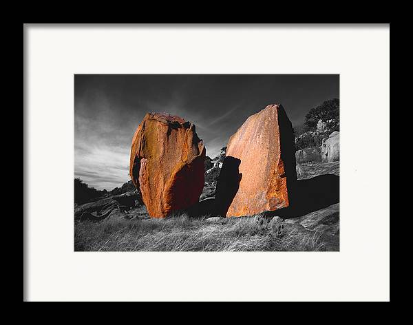 Photography Framed Print featuring the photograph Enchanted Rock Megaliths by Tom Fant