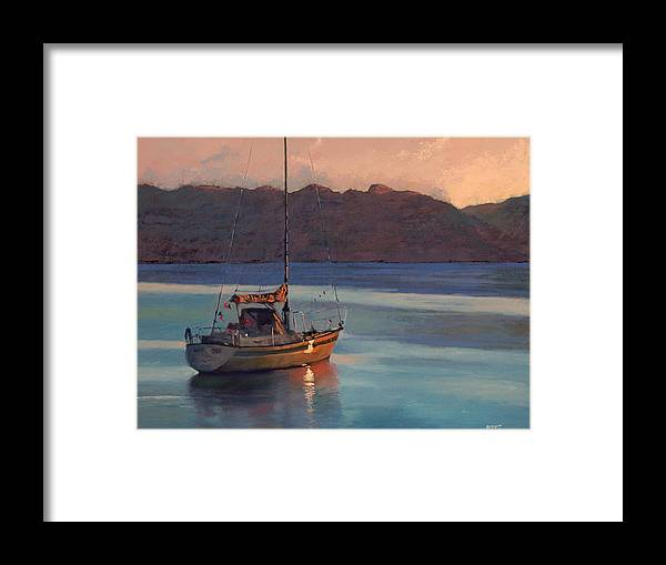 Sail Framed Print featuring the painting End Of Day by Robert Bissett