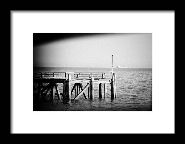 Pier Framed Print featuring the photograph End Of The Pier by Angela Aird