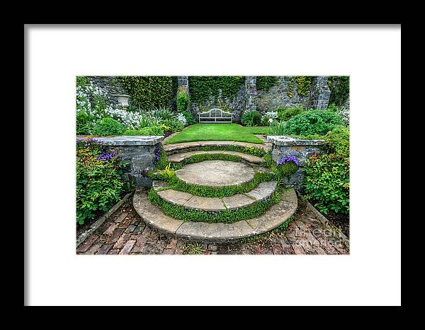 Flowers Framed Print featuring the photograph English Garden by Adrian Evans