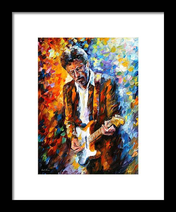 Afremov Framed Print featuring the painting Eric Clapton by Leonid Afremov