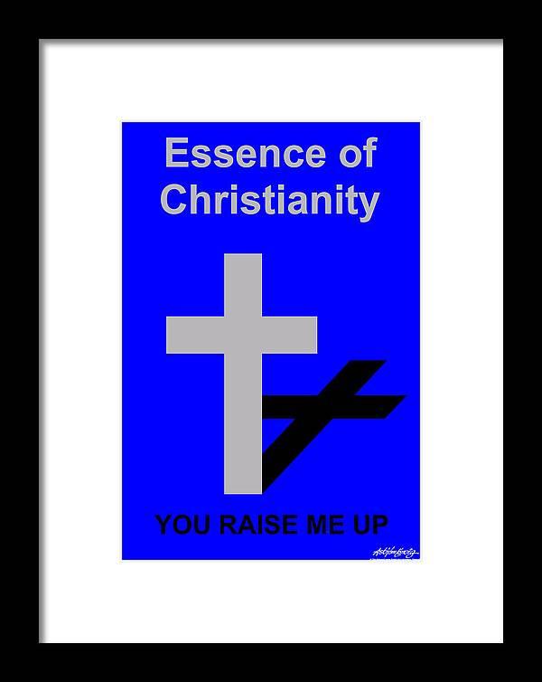 Christ Framed Print featuring the digital art Essence Of Christianity by Asbjorn Lonvig
