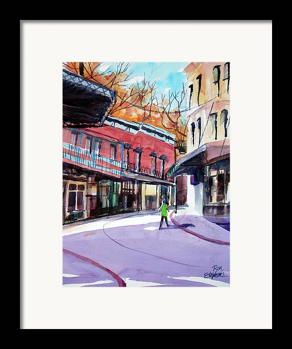 Store Fronts Framed Print featuring the painting Eureka Springs Ak 4 by Ron Stephens