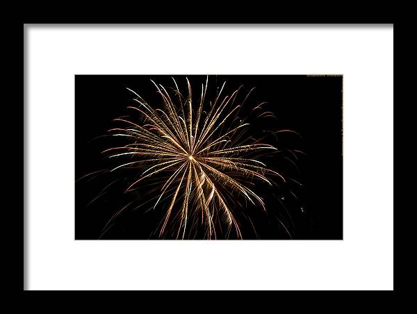 Fireworks Framed Print featuring the photograph Explosive Flowers 5 by Heinz - Juergen Oellers