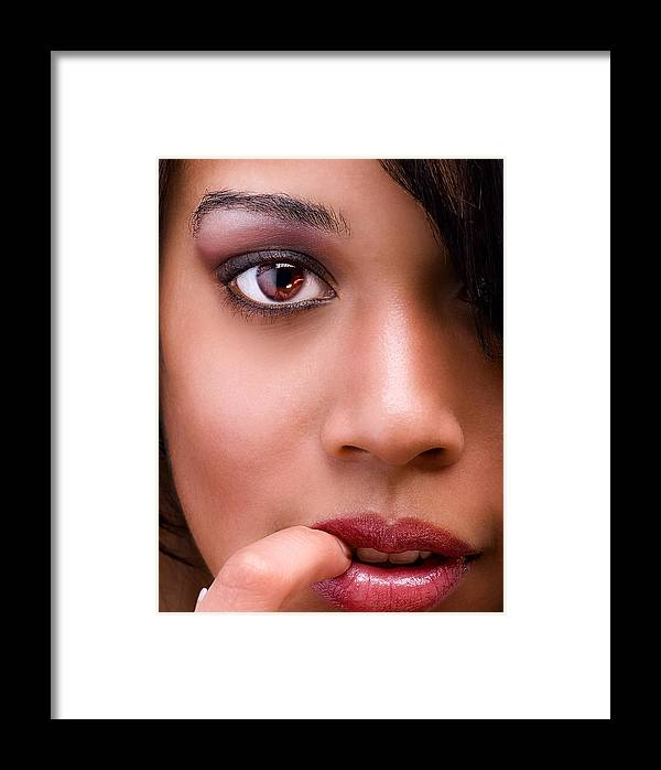 Female Framed Print featuring the photograph Eye Has It by Val Black Russian Tourchin