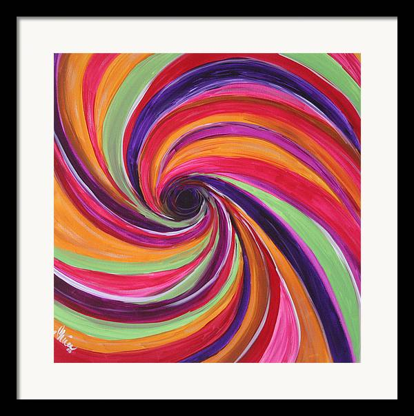 Abstract Paintings Framed Print featuring the painting Eye Of The Storm by Shiree Gilmore