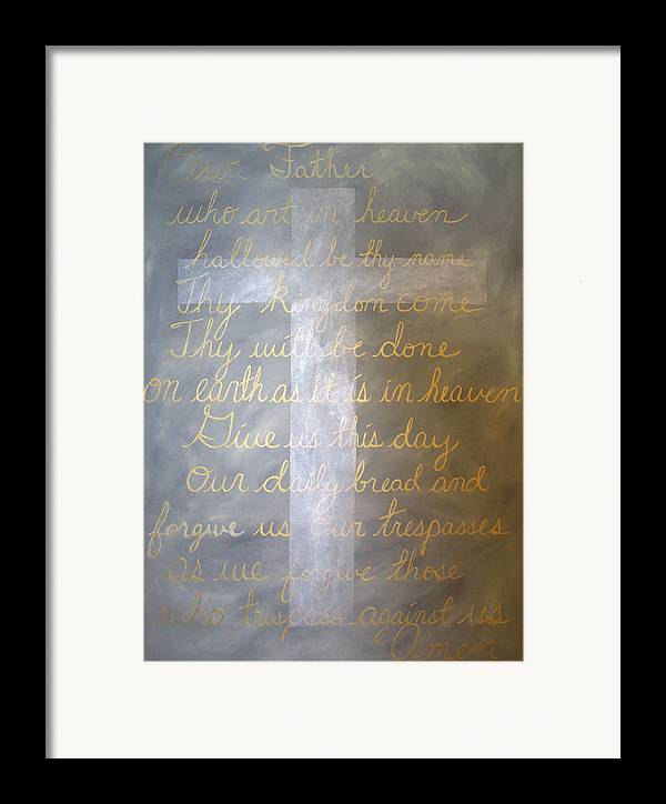 God Framed Print featuring the painting Father Forgive Us by Donielle Boal