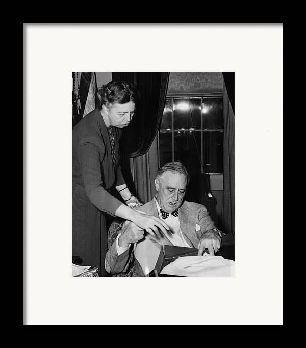 1940s Framed Print featuring the photograph Fdr Presidency. First Lady Eleanor by Everett