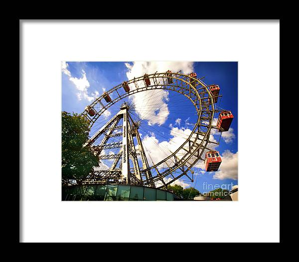 Ferris Wheel Framed Print featuring the photograph Ferris Wheel At The Prater by Madeline Ellis