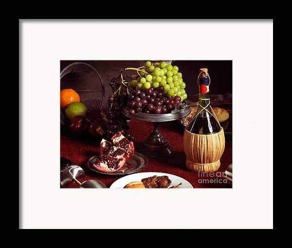 Feast Framed Print featuring the photograph Festive Dinner Still Life by Oleksiy Maksymenko