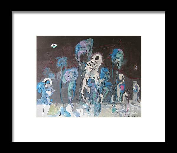 Fiddleheads Paintings Framed Print featuring the painting Fiddleheads 3 by Seon-Jeong Kim