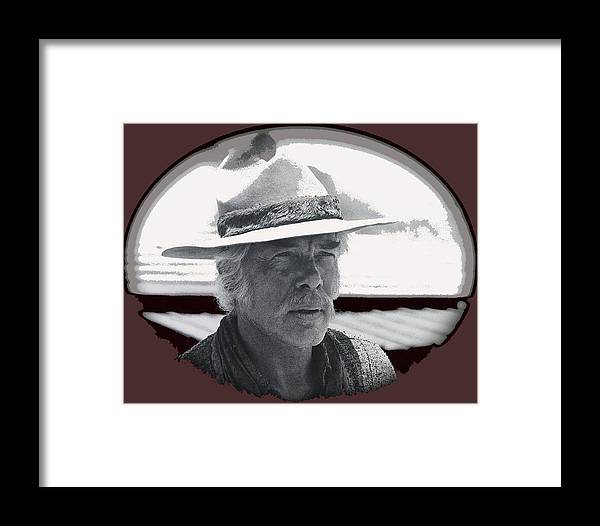 Film Homage Lee Marvin Monte Walsh Collage Variation 2 Old Tucson Arizona 1969-2012 Framed Print featuring the photograph Film Homage Lee Marvin Monte Walsh Collage Variation 2 Old Tucson Arizona 1969-2012 by David Lee Guss