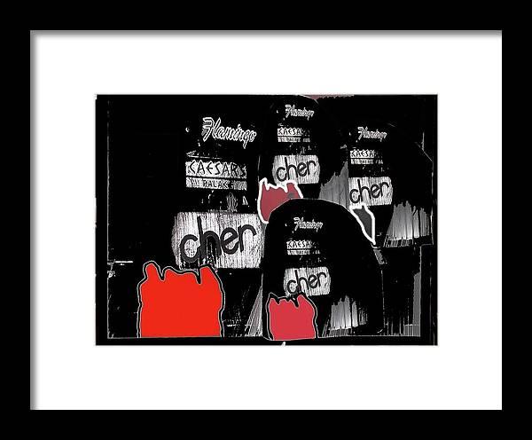 Film Noir Jane Russell The Las Vegas Story 1951 2 Caesar's Palace Flamingo Las Vegas Nevada 1979 Framed Print featuring the photograph Film Noir Jane Russell The Las Vegas Story 1951 2 Caesar's Palace Flamingo Las Vegas Nevada 1979 by David Lee Guss