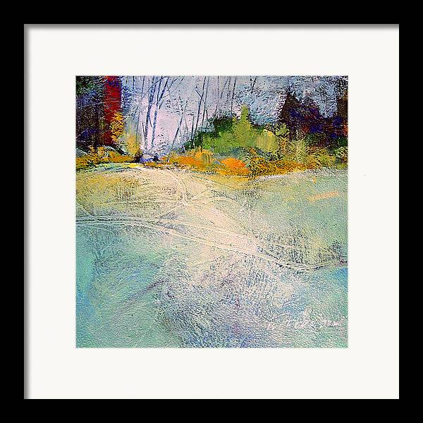 Landscape Framed Print featuring the painting First Frost by Dale Witherow