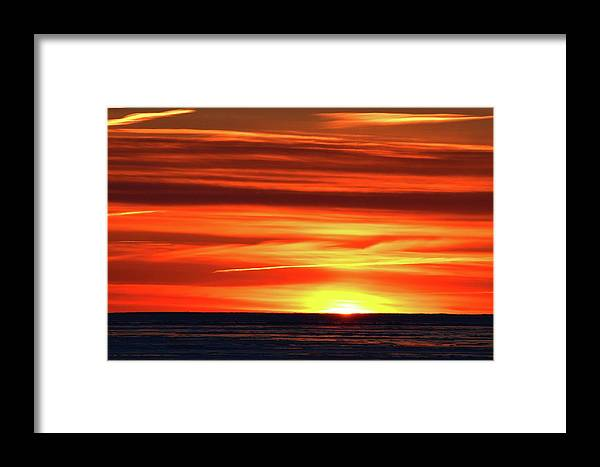 Abstract Framed Print featuring the photograph First Light by Lyle Crump