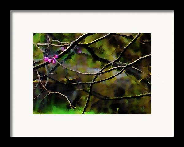 Abstract Digital Art Framed Print featuring the painting First Sign Of Spring by Gerlinde Keating - Galleria GK Keating Associates Inc
