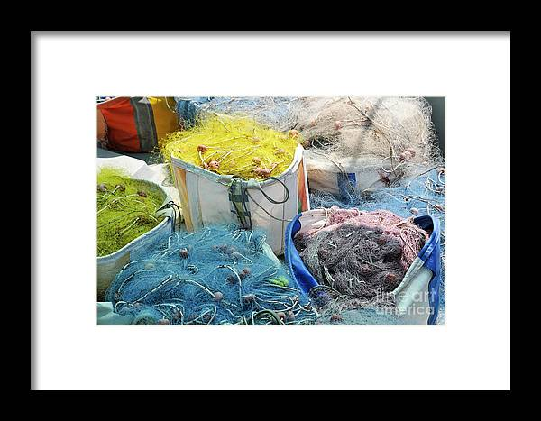 Fishing Framed Print featuring the photograph Fishing Industry In Limmasol by Shay Levy