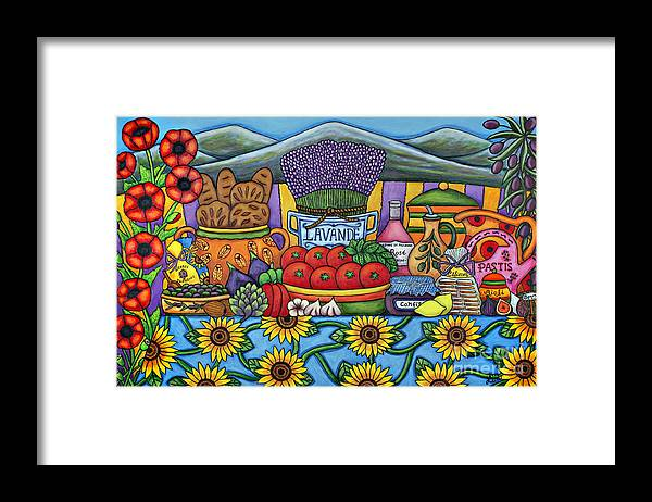 Provence Framed Print featuring the painting Flavours of Provence by Lisa Lorenz